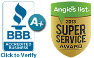 BBB A+ Rating | Angie's List Super Service Award Winner